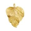Bronze Pendant Ivy Leaf 32x28mm Hammered